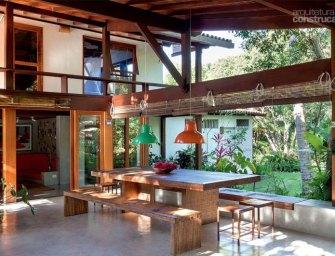 Une superbe villa Brésilienne ouverte sur le jardin