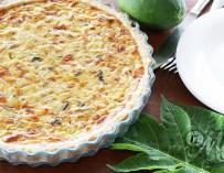 La quiche à la papaye verte et aux petits lardons