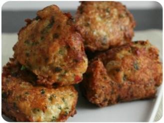 Les boulettes de poulet au gingembre et à la coriandre