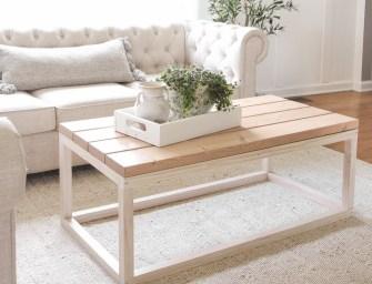 Une table basse facile à réaliser soi même