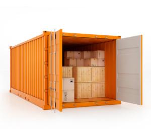 orange moving container