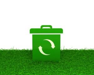 green box on grass