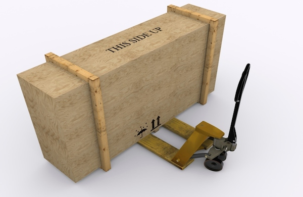 crate with dolly