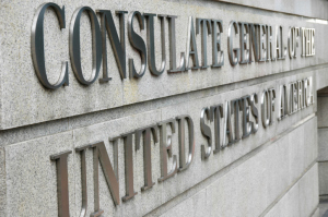 United States Consulate Sign
