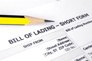 bill of lading paperwork