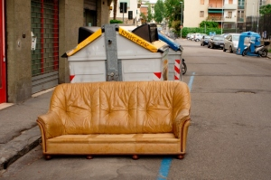 Exceptional Brown Leather Couch