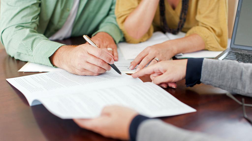 paperwork signing