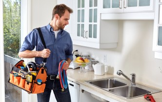 plumber with toolset
