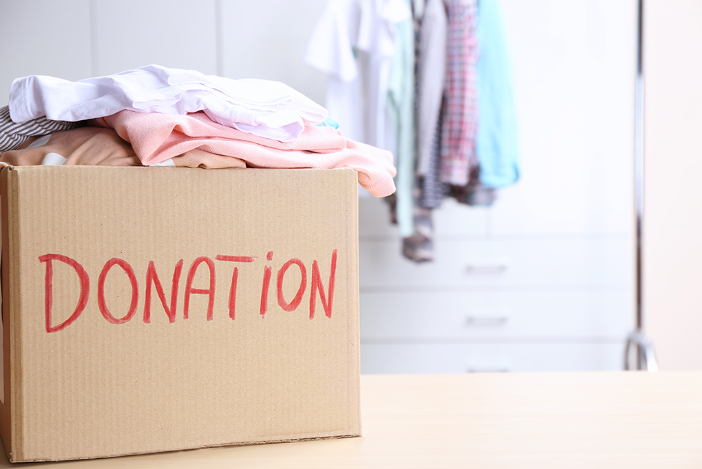 donating clothes