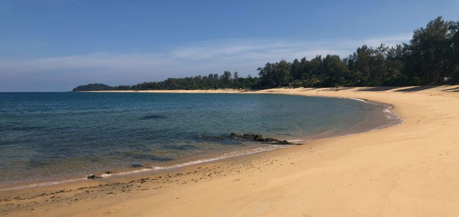 Photograph of the beach at Tanjong Jara resort, Terrenganu