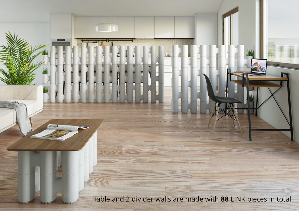 Raum Trenner Link System - Movisi