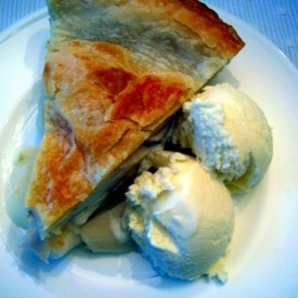 pie and homemade ice cream