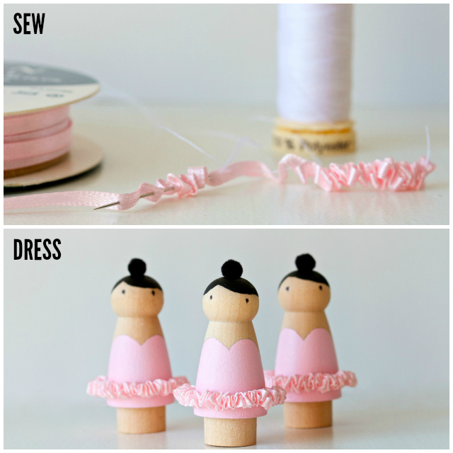 ballerina peg dolls | movita beaucoup