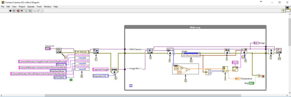 medium resolution of flir a35 a65 using labview image grab block diagram