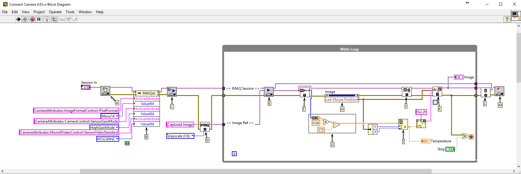 hight resolution of flir a35 a65 using labview image grab block diagram