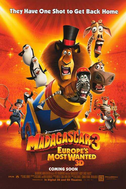 Madagascar Europes 3 Wanted Most 3d