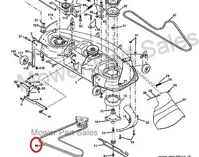 "102 cub cadet schematics auto electrical wiring diagram John Deere 48"" Deck Parts diagram cutter deck belt fits husqvarna gth250 xp gth2548 yth1848"