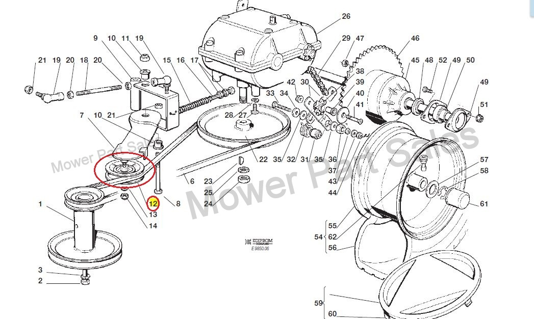 to change husqvarna belt diagram