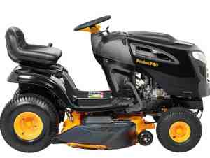 """Side View of Poulan Pro 46"""" 20HP Riding Mower"""