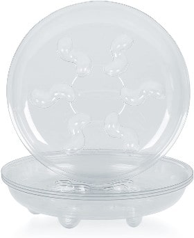 5 Pieces of 6 Inch Clear Thick Plastic Heavy Duty Sturdy Plant Saucer