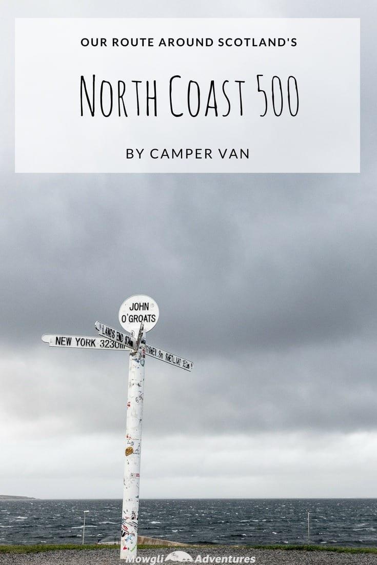 Scotlands NC500 route by camper van  Mowgli Adventures