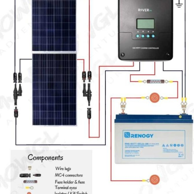 12v solar panel wiring diagrams for rvs campers van's