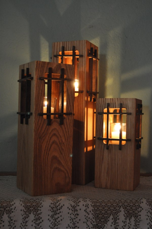 Mission Candleholders