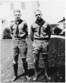 Eagle Scout Gerald Ford, on Right
