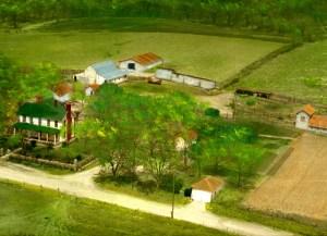 The Mowry farm, circa 1955