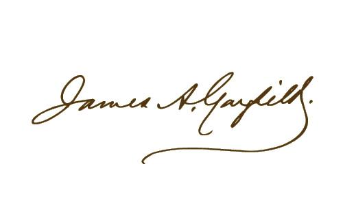 James Garfield signature