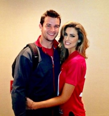 Andrew McCarron and his girlfriend, Katherine Webb.  After last night's spotlight on her, she now has more twitter followers than her QB boyfriend.