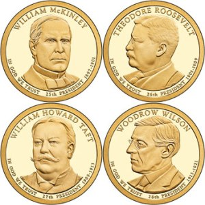These are the 2013 issues of the Presidential Dollar series. The mint is no longer making them for general circulation ... until the backlog from prior years is eased into circulation.