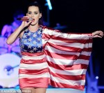 BAD! Katy Perry's costumes are not to be made of flags.