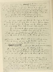 "Francis Scott Key's original manuscript of his ""Star-Spangled Banner"" poem. It is now on display at the Maryland Historical Society."