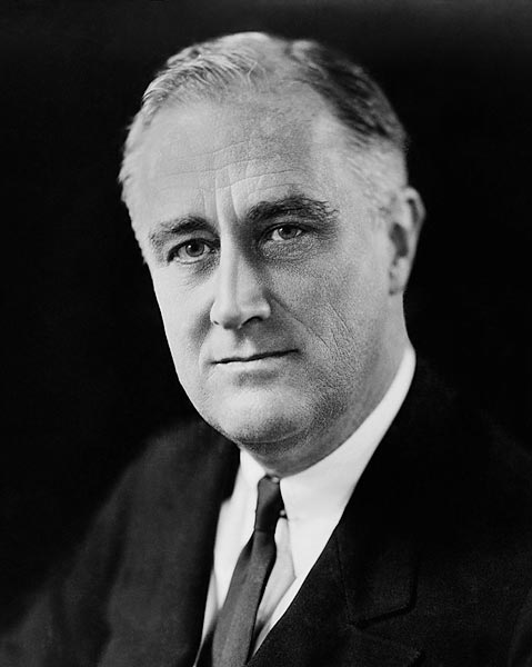 """""""Democracy cannot succeed unless those who express their choice are prepared to choose wisely. The real safeguard of democracy, therefore, is education.""""- Franklin Roosevelt, photo by Elias Goldensky, 1933."""