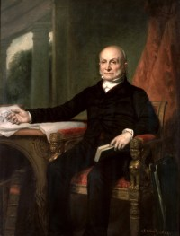 John Quincy Adams, 6th President of the United States, after losing the popular vote and losing the electoral college vote.