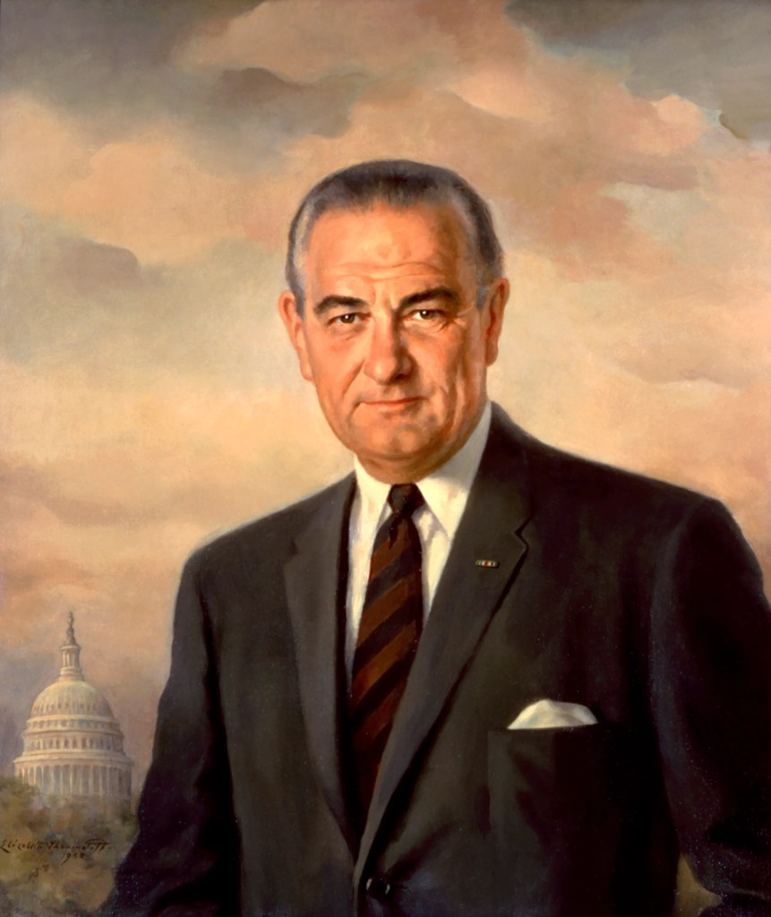 Lyndon Johnson, official Presidential Portrait