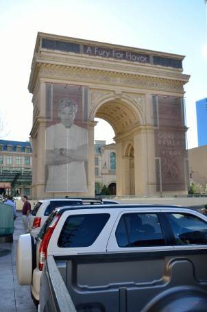 It used to be a faux Arc de Triomphe.