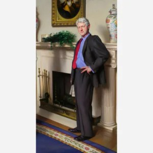 Bill Clinton portrait by Nelson Shanks, from the National Portrait Gallery