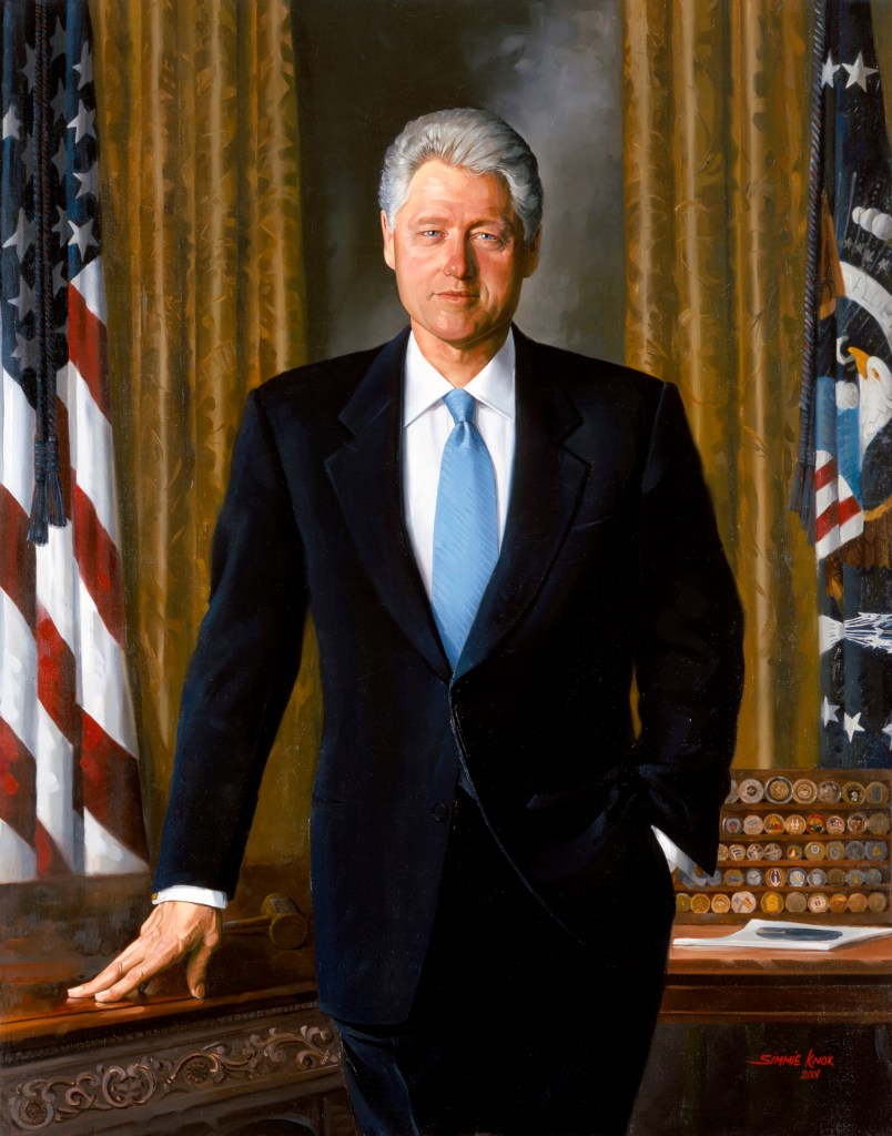 Bill Clinton, official Presidential Portrait