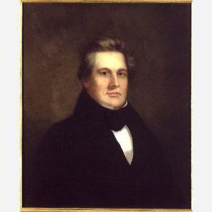 Fillmore's portrait by an unidentified artist dates to about the time he retired from the House of Representatives in the early 1840s. National Portrait Gallery