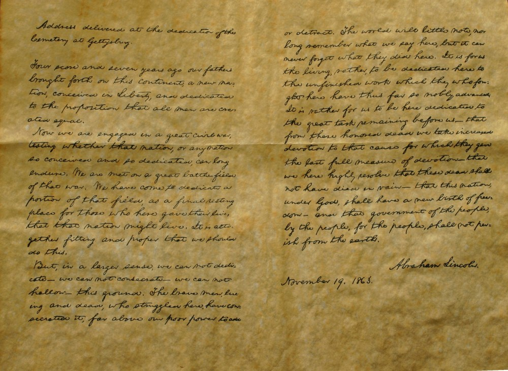 Gettysburg Address - Bliss