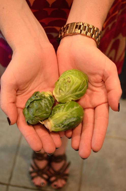 Brussels sprouts, cute shoes.