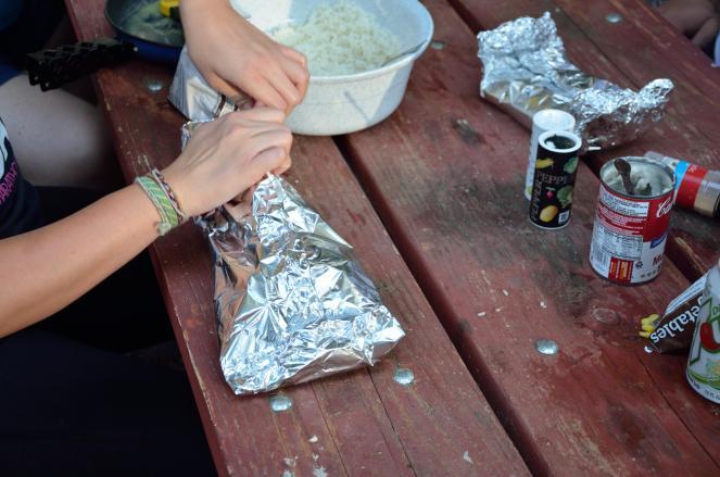 Fold the foil pouch so no moisture escapes.