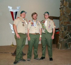 This is the only existing photo of the three Mowry Eagles. 2005.