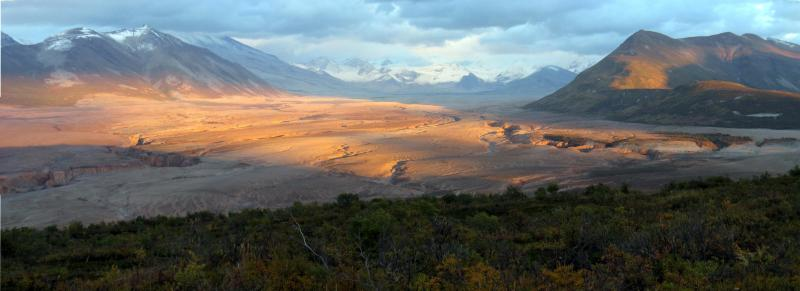Sunset in the Valley of Ten Thousand Smokes. From the National Park Service website.