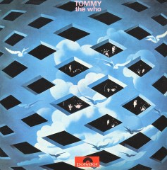 This is the album cover for The Who's Tommy, released in 1969. The movie soundtrack - with performances by Eric Clapton, Elton John, Tina Turner, Jack Nicholson and Ann-Margaret, followed in 1975.