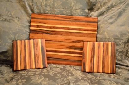 Cutting board, 2 cheese boards.