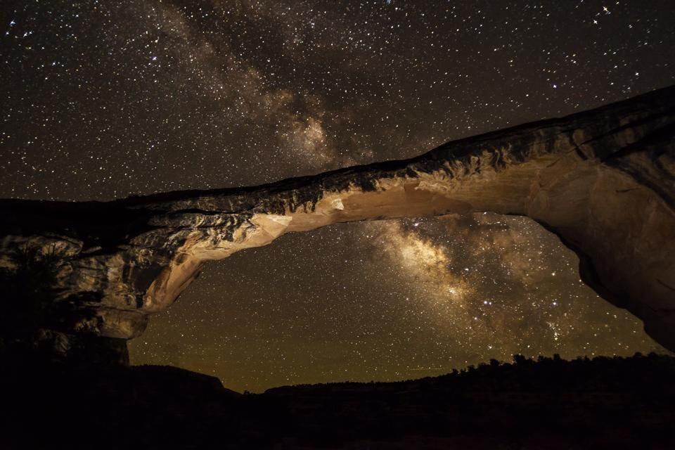 The majestic Natural Bridges National Monument with the equally majestic Milky Way make for one beautiful photo. The Monument is about 50 miles from the 4 Corners boundary in southeastern Utah. Tweeted by the US Department of the Interior, 1/29/14.