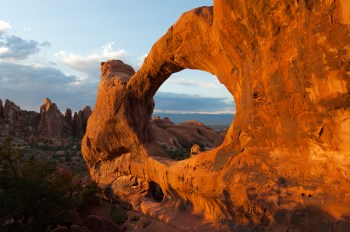 Double O Arch. Photo by Neal Herbert. From the Park website.